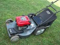 """Craftsman self-propelled 6 H.P. mower, 22"""" with bagger("""