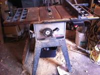 "Craftsman table and radial saw 125.00 each, both 10"","