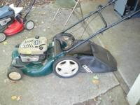 This is one bad-boy mower It has a powerful 7 hp briggs