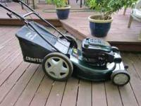 "22"" Craftsman front wheel drive mower Recently serviced"
