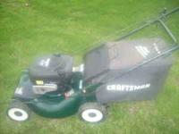 Craftsman 21 inch self propelled mower 6.25 Briggs and