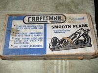 "Craftsman smooth planer, 9 11/16""long 1 3/4"" cutter,"