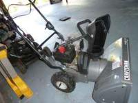 24in cut, 5.5HP,3speed, 2 stage, 4cycle, starts with