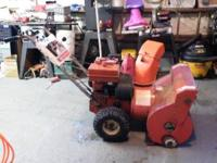 This is a self propelled snowblower good running and in