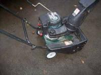 Nice 4 cycle snowblower - uses straight gas (no