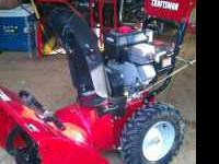 Craftsman Snowblower, has electric start, machine is