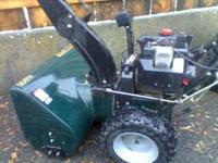 "CRAFTSMAN SNOWBLOWER 11 HP 30"" CUT LIKE NEW EXCELLENT"