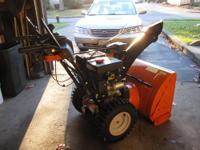 7 horse power 24 inch auger carb rebuilt tire chains