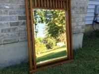 Craftsman style hanging mirror, like new - $50 size /