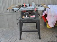 Craftsman table saw (small/lightweight).