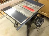 "Craftsman 10"" table saw with 6 extra blades...most are"