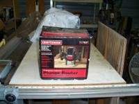 I have a 2-1/2HP 1/2inch Craftsman Router for sale- I