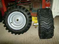 We have a pair of craftsman 16x6.5x8 tires and wheels