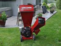 This is a 7.5hp wood chipper thats only been used a
