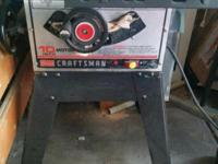 Craftsman 10 inch table saw 120V 3450 RPM with dado