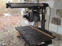 "Up for sale is a 10"" radial arm saw made by Craftsman"