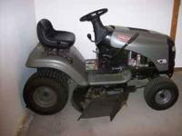 Nearly new Craftsman LTS 1500 ride on lawn mower with
