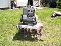. Craftsman roto tiller. Older device, all metal, no