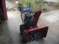 I am selling my snowblower, it is 11.5 hp, 30 inch