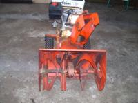 I am selling my craftsman snowblower. It is a 9hp