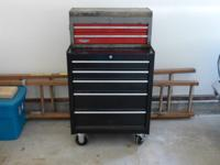 Used Craftsman tool box and chest. Box has 5 drawers