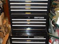 Craftsman Tool Cabinet. Set out of 3 different parts.
