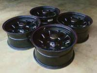 Up for sale is a NICE set of 16x8 (5x4.5) Cragar black
