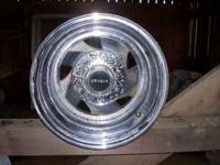 Crager 15x 10 wheels. 6 lug. Came off Jeep CJ7. Good