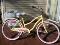 I have a beautiful light yellow woman's cruiser bike