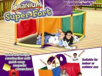 Cranium Mega fort kit, Kids loved it! With storage bag!