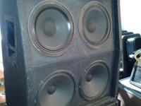 Crate 4x12 cab, older, only top 2 speakers are wired,