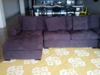 Excellent condition 4-piece, left arm chaise Axis