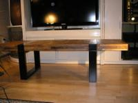 Crate and Barrel seguro rectangular coffee table