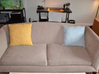 Crate and Barrel Silhouette Couch ?Cream ($850)