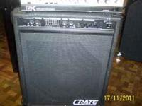 HI. I HAVE A CRATE AMP IN GOOD CONDITION. FOR DETAILS