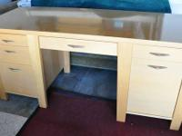 C&B  desk with drawers and pullout keyboard tray.  The