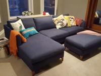 Super comfortable Crate & Barrel sectional needs a new