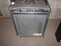 We have a used Crate BX-100 Bass amp for $60.  Can be