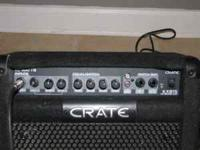 Excellent shape .... like new. Crate guitar amp KXB15.