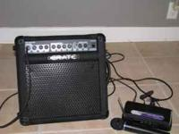 Excellent shape .... like new. Crate guitar amp KXB15