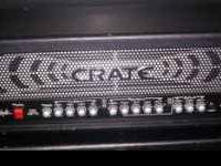 Crate Shockwave GT3500H Head. 350 watt. 3 channel. B52