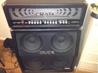 350 watt Crate HD3500H with on a GT412SL cab. Sounds