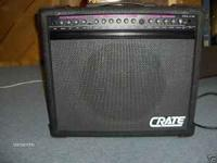 CRATE GT-50 STEALTH TUBE GUITAR AMPLIFIER. THIS AMP WAS