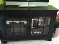 Awesome Black TV Cabinet / Media Console. Two front