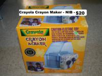 Crayola Crayon Maker - NEW - $15 cash only   NEW