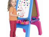 Crayola Pink Magnetic Double Easel. Magnetic/Dry Erase