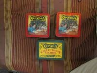 I have 3 collectible Crayola tins, complete, each with