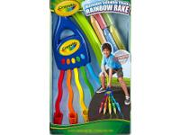 This Crayola Washable Sidewalk Rainbow Rake, a