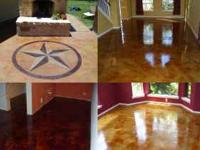 Acid staining is an art and most installers do not have