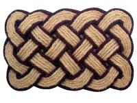 All natural, durable coir fibers are made into ropes